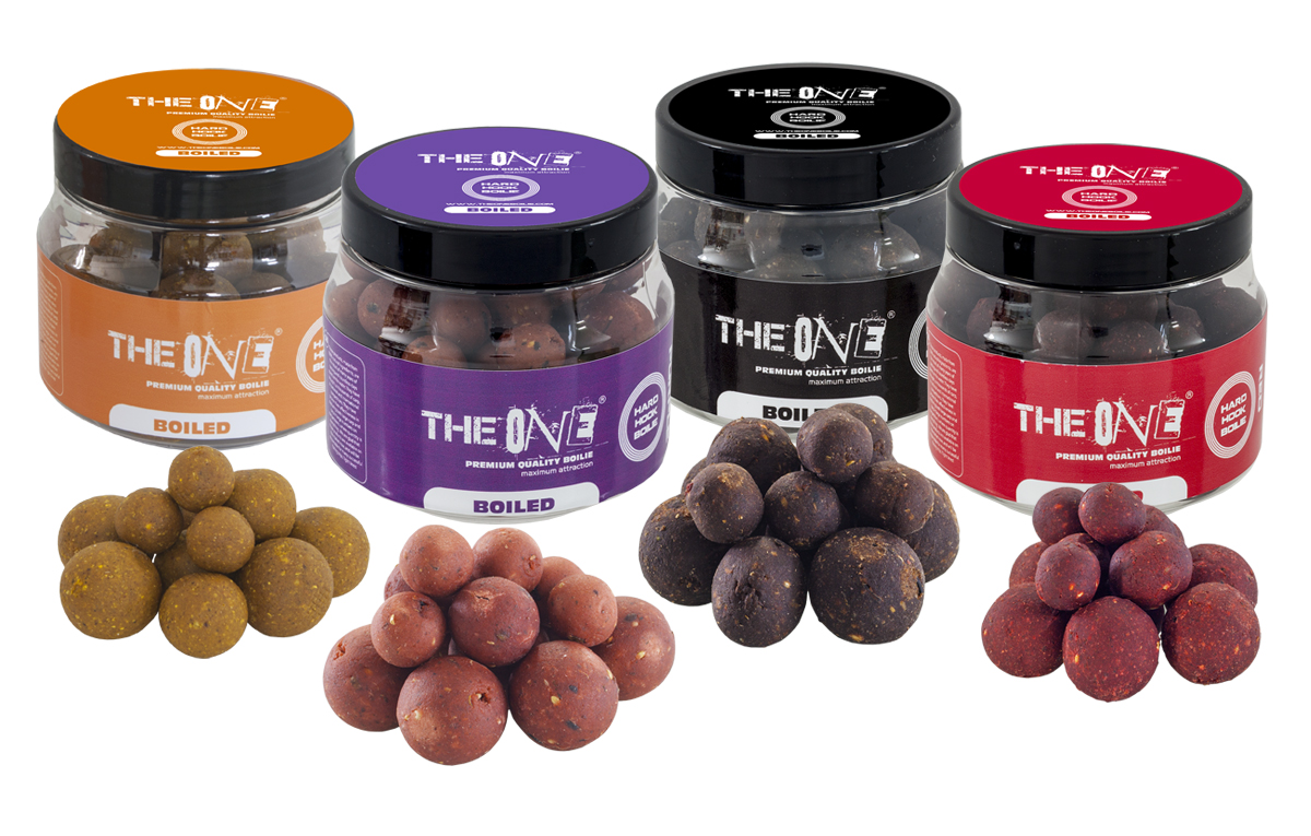 THE ONE GOLD HOOK BOILIES BOILED  14/18/20MM MIX 150g