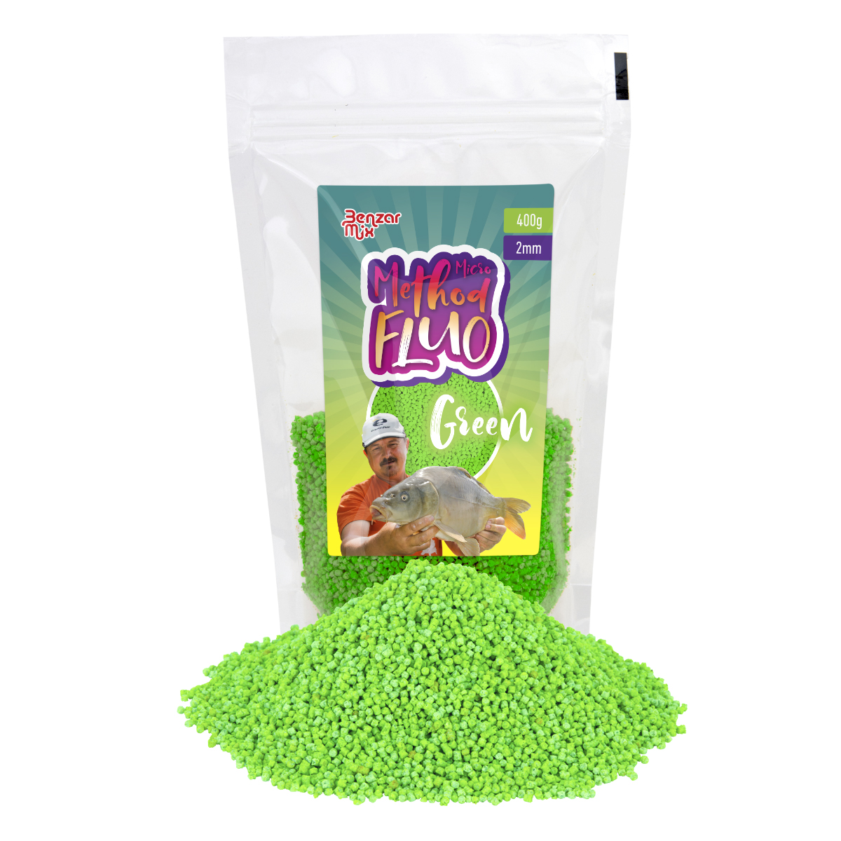 BENZAR MIX MICRO METHOD FLUO PELLET ZOLD 2MM 400GR