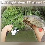 Ultra light álom: ET Wizard Drop Shot pergetőbot és Wizard Spin orsó