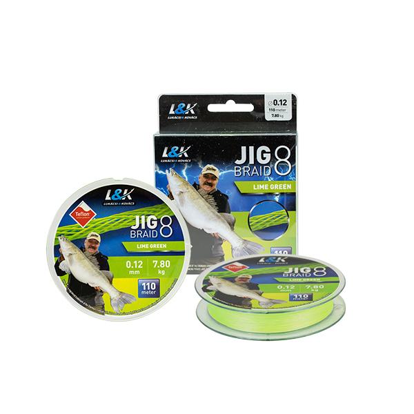 L&K JIG BRAID LIME GREEN FONOTT ZSINÓR - 110M
