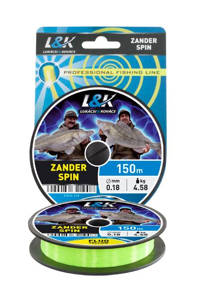 ZSINÓR L&K ZANDER SPIN FLUO SÁRGA 150M 0,20MM