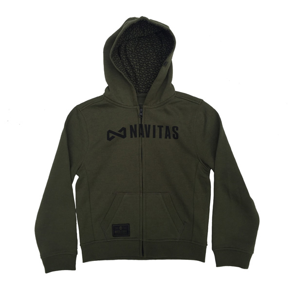 NAVITAS CORE KIDS ZIP HOODY GREEN AGE 11-12