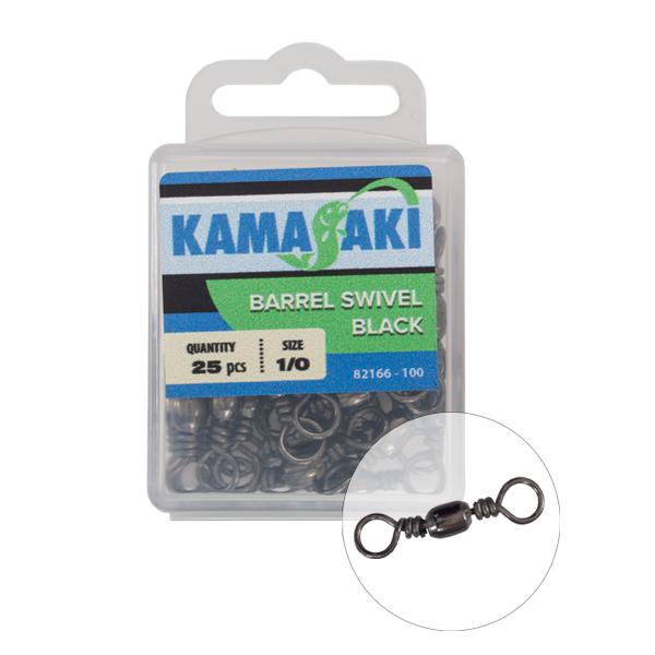 KAMASAKI FORGÓ FEKETE NR 1/0 25 DB/CSOM
